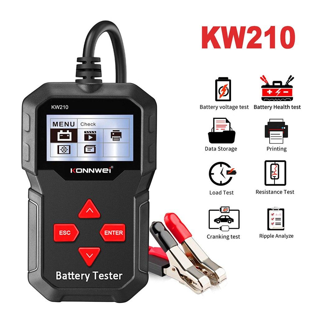 車バッテリ負荷テスターkonnwei KW210 12v 100-2000 ccaプロの自動車オルタネータデジタルアナライザ波形電圧テスト