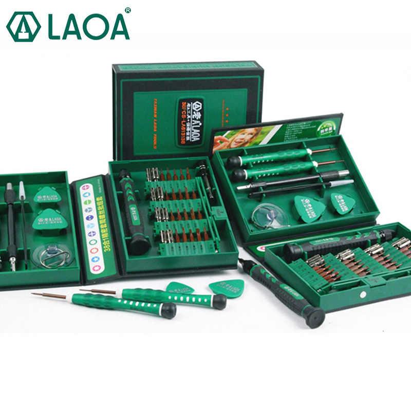 Laoa Dijual Obeng Set 38 In1 Alat Perbaikan Kit Presisi S2 Alloy Steel Ferramentas Alat untuk Ponsel Iphone 4 S 5 S, 6 S, PSP
