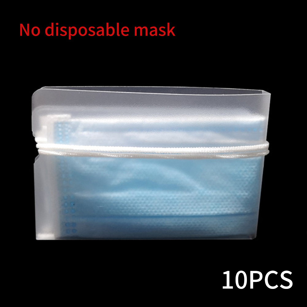 Disposable Mask Holder Storage Clip Dustproof Small Universal Travel PP Safe Transparent Reusable Pouch Foldable Portable