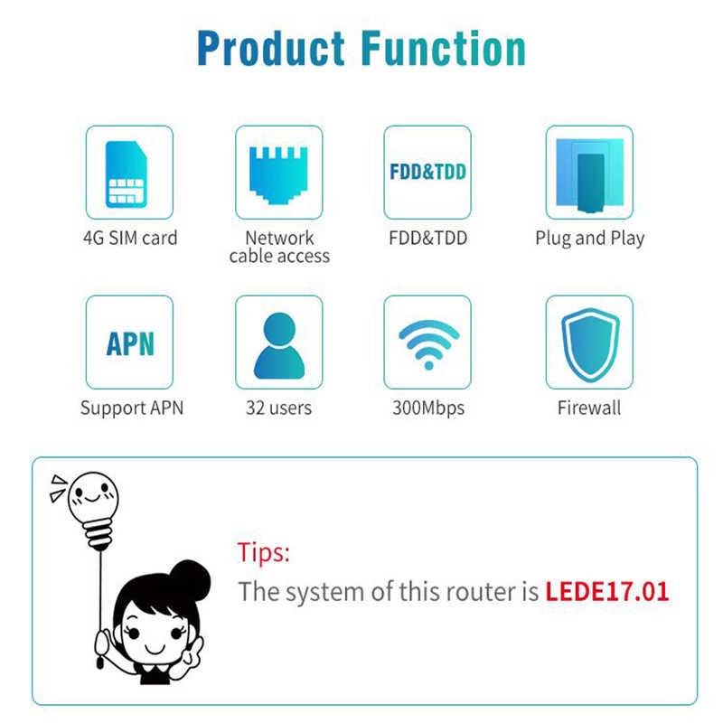 TianJie 4G Cpe Wifi antena desbloqueado módem móvil Wifi Hotspots banda ancha inalámbrica con ranura para tarjeta Sim con batería de 6000mAh