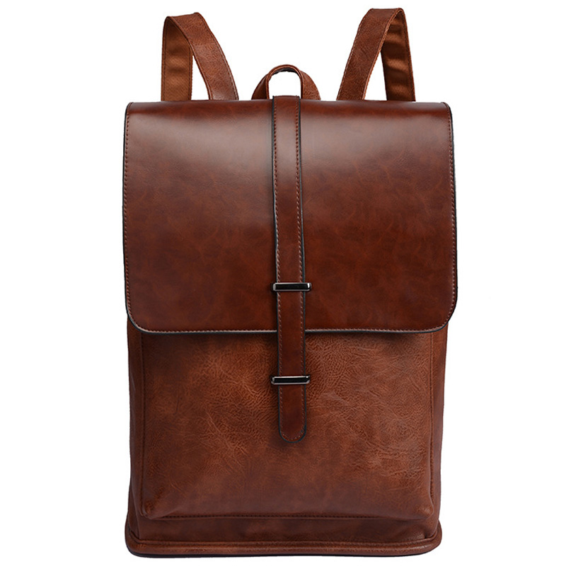 Casual Laptop Leather Backpack Men New School Bags For Men Waterproof Backpacks For Vintage Men Bag High Quality Travel Bagpack