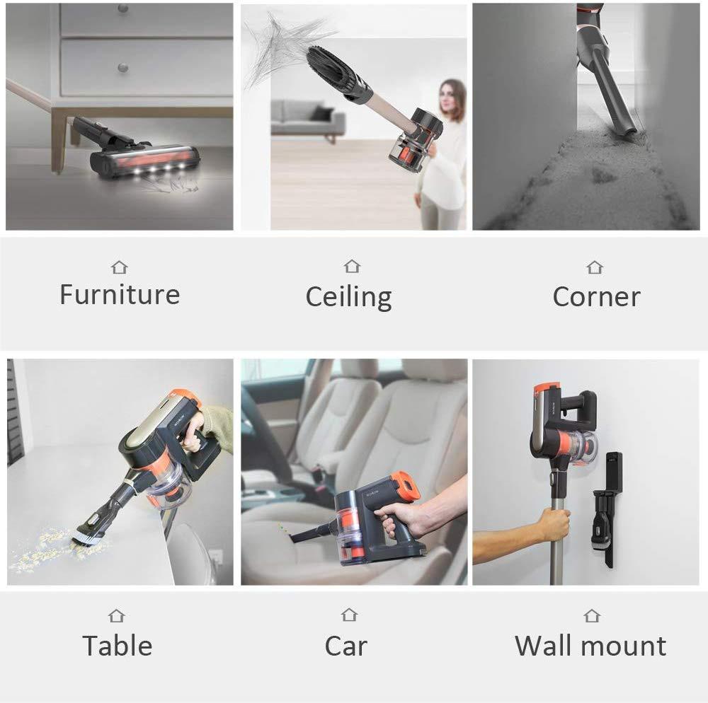 Womow Cordless Vacuum Cleaner 25kpa Power Suction Aspiradora Stick Handheld Wireless Vacuum Cleaner W20 Vs Ilife For Home Car 5
