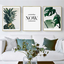 Pineapple Green Plant Canvas Painting Wall Picture Print Picture Wall Art Poster Living Room Bedroom Home Decors With You(China)