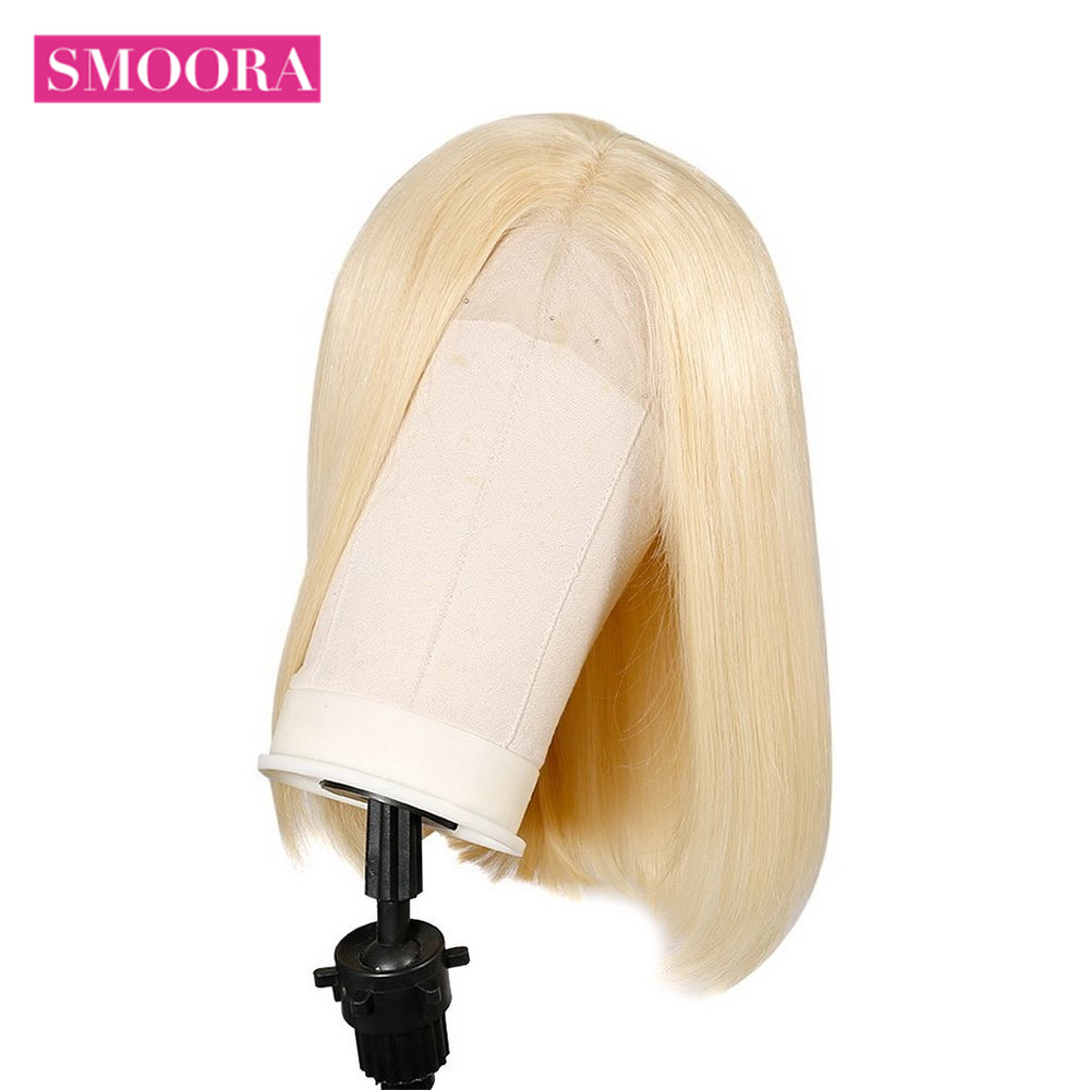 613 Blonde Bob Wigs Transparent 13x4 Lace Front Short  Bob Wigs  Straight  Hair 150% Density 16 inch 3