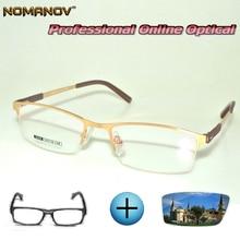 Custom Made Prescription Glasses Optical Photochromic Myopia Reading Classic Ellipse Full-rim Frame Men Women