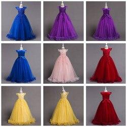 Verão vestido de casamento 2019 vestidos crianças tutu vestidos para meninas roupas bordadas vestidos de princesa 5-14 anos crianças roupas