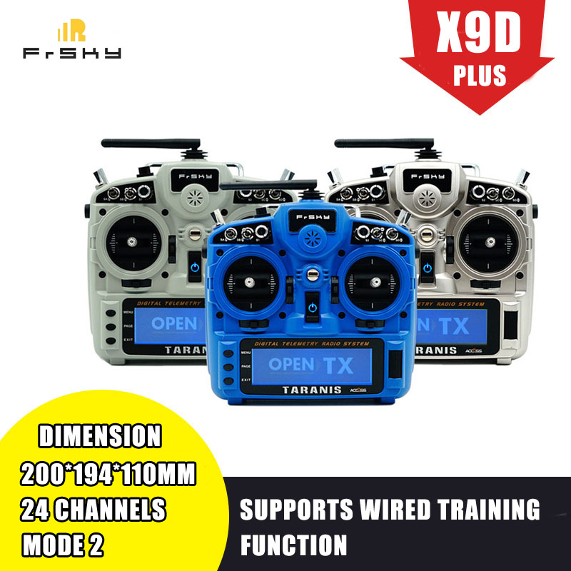In Stock FrSky Taranis X9D Plus 2019 2.4G 24CH ACCESS ACCST D16 Transmitter Supports Spectrum Analyzer Functionfor for RC Drone