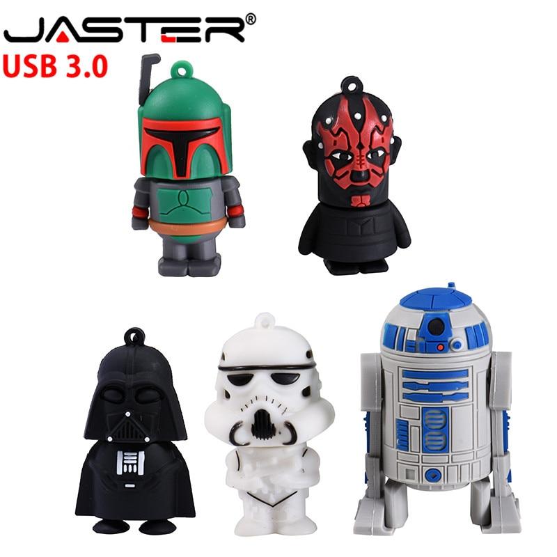 JASTER  The New Cute Star Wars USB Flash Drive USB 3.0 Pen Drive Minions Memory Stick Pendrive 4GB 8GB 16GB 32GB 64GB Gift
