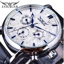 Jaragar Brand Men Automatic Self Wind Mechanical Watch White