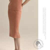Elastic thin strip of high quality wool pit skirt 19 winter new large size women knit skirt Bottoms