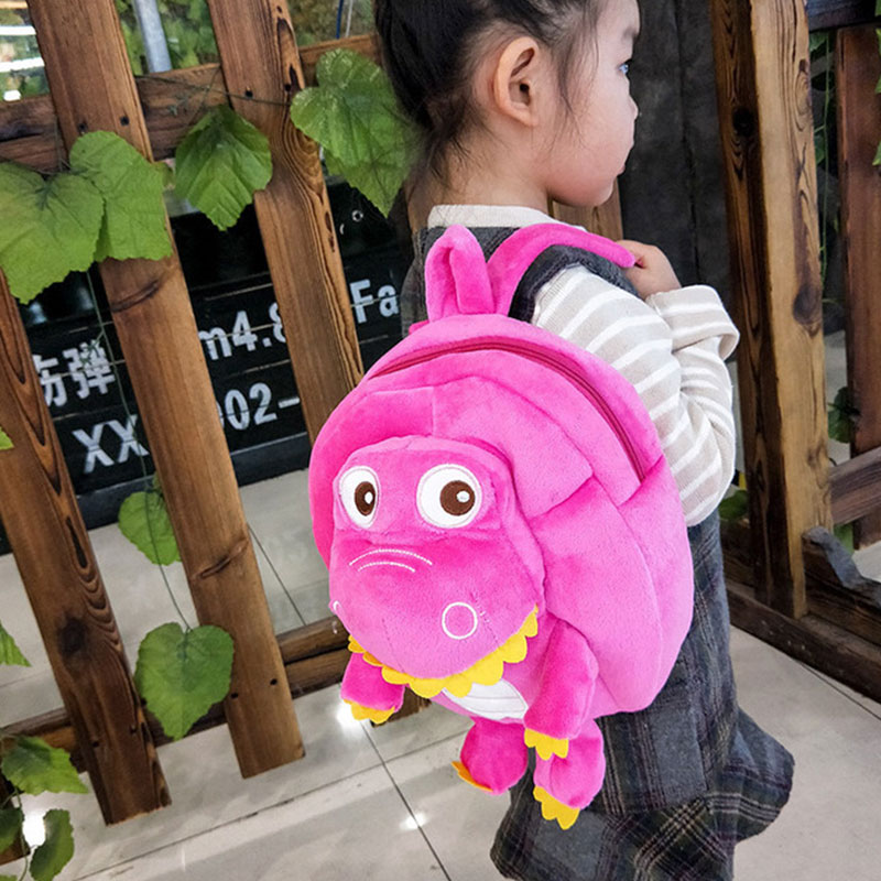 New children plush backpack, cartoon dinosaur jurassic backpack for children,kindergarten school bag