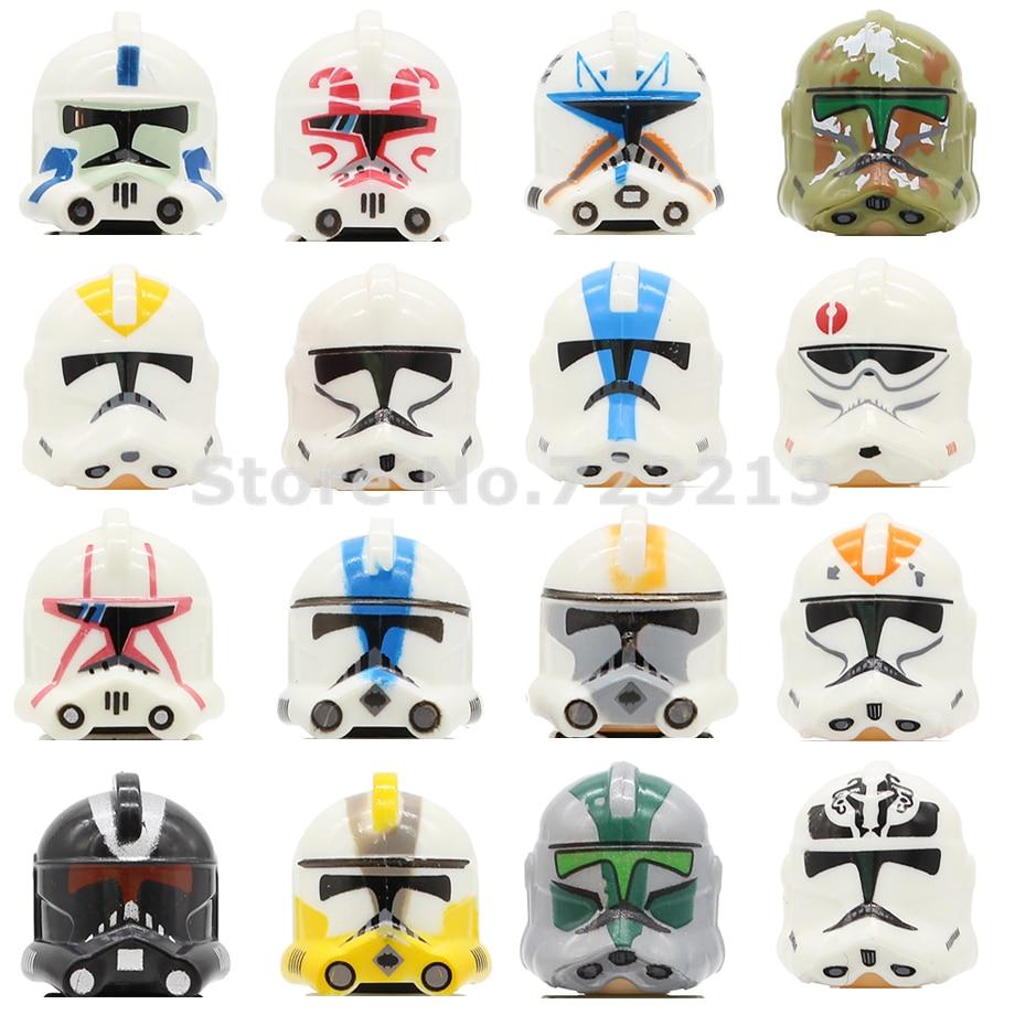 Star Wars Clone Trooper Starwars Figure Head Single Sale PG8078 Trooper Clonetrooper Building Block Model Bricks Toys