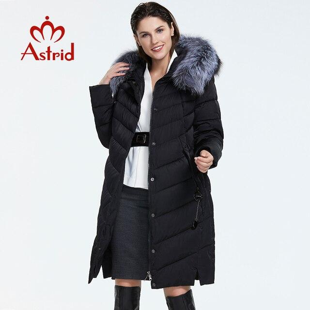 Astrid 2019 hiver nouveauté doudoune femmes avec un col en fourrure vêtements amples vêtements d'extérieur qualité femmes hiver manteau FR-2160 2