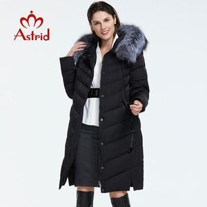 Image 2 - Astrid 2019 Winter Nieuwe Aankomst Down Jas Vrouwen Met Een Bontkraag Losse Kleding Bovenkleding Kwaliteit Vrouwen Winter Jas FR 2160