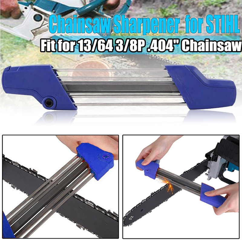 2 IN 1 13/64 5.2mm Quick Chainsaw Chain Chain Saw File Sharpener Sharpening Kit Accessory For Stihl 3/8P .404 Inch Chiansaw