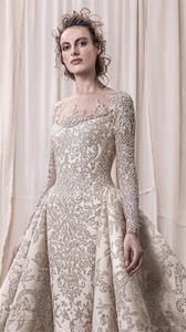Image 4 - Perline di lusso Paillettes Da Sposa In Pizzo Abiti Da Sposa 2020 Romantic UNA Linea A Manica Lunga Da Sposa Abiti Da Sposa Robe De Mariee