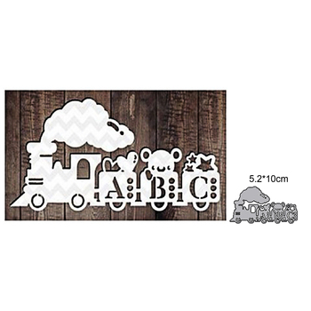 Baby Train Metal Cutting Dies for DIY Scrapbooking Album Paper Cards Decorative Crafts Embossing Die Cuts drinking utensils wine glass bottle barrel metal cutting dies scrapbooking album paper diy cards crafts embossing dies new 2020