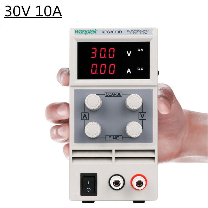 30V 10A 3/4 Digits Display Switching DC Power Supply Adjustable Laboratory Current Stabilizer Suitable for phones Diy 30 V