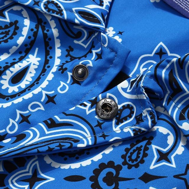 Mens Wear Hip Hop Bandana Paisley Pattern Bomber Jackets Windbreaker Harajuku Streetwear 2020 Autumn Casual Coats Tops Clothing 5