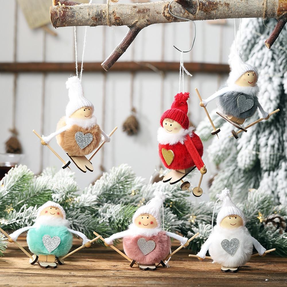 Новинка, милый ангел, плюшевая кукла, Рождественское украшение, кулон, Креативные украшения на рождественскую елку, Рождественское украшен...