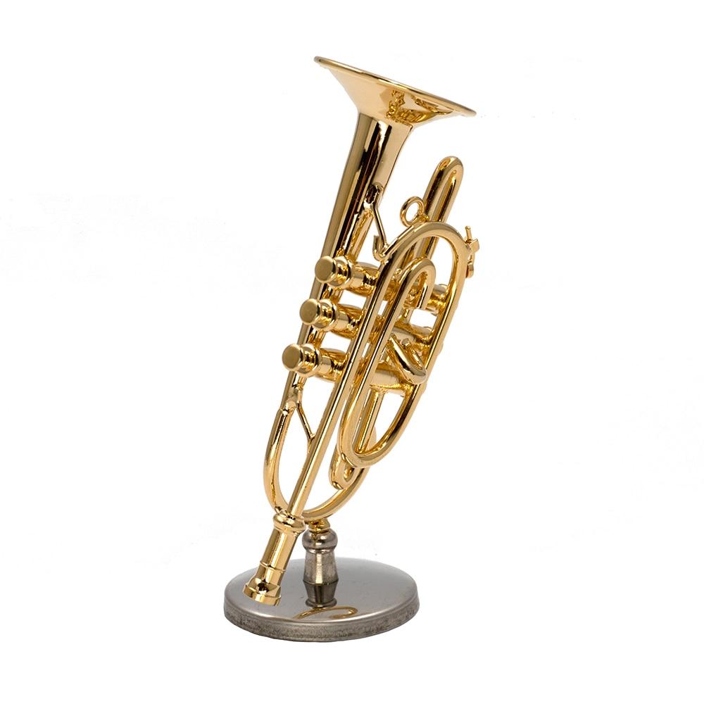 Miniatur Kornet 8.5cm Mini Dekoration Musikinstrument