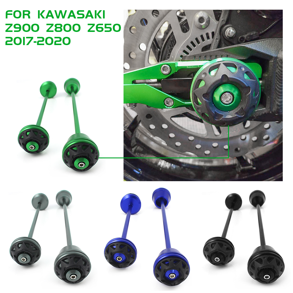 Front Rear Axle Fork Crash Sliders Wheel Protector For <font><b>Kawasaki</b></font> Z900 Z800 Z650 2017-2020 2018 Z1000 <font><b>Z1000SX</b></font> Ninja 1000 2010-<font><b>2019</b></font> image