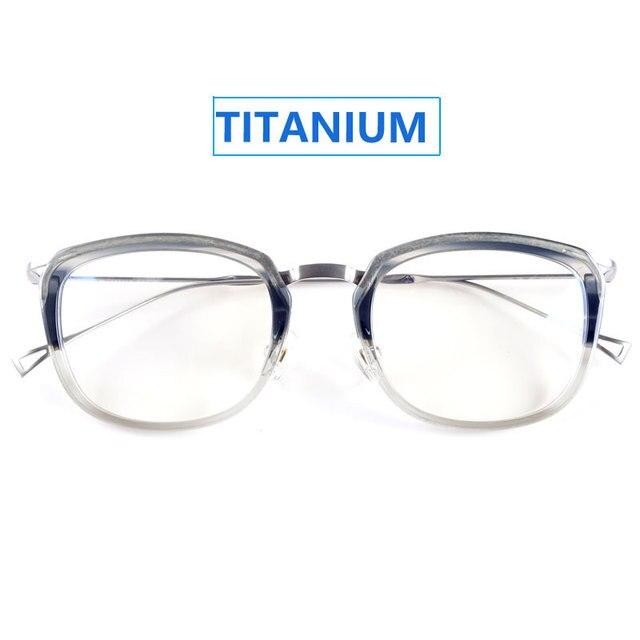 Japão super leve titanium armações de óculos de prescrição armações de óculos transparente