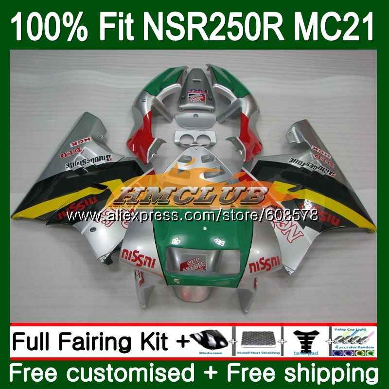 Injection For HONDA NSR250R MC21 PGM3 1990 1991 1992 1993 101CL.29 <font><b>NSR</b></font> <font><b>250</b></font> R NSR250 RR <font><b>NSR</b></font> 250R 90 91 92 93 Silver grey Fairing image