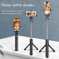 Selfiestick portátil tripé selfie vara dobrável handheld extensível para iphone foto transmissão ao vivo remoto mini tripé