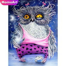 MomoArt Diamond Embroidery Owl Cartoon Painting Full Square/round Stones Mosaic Animal Home Decoration