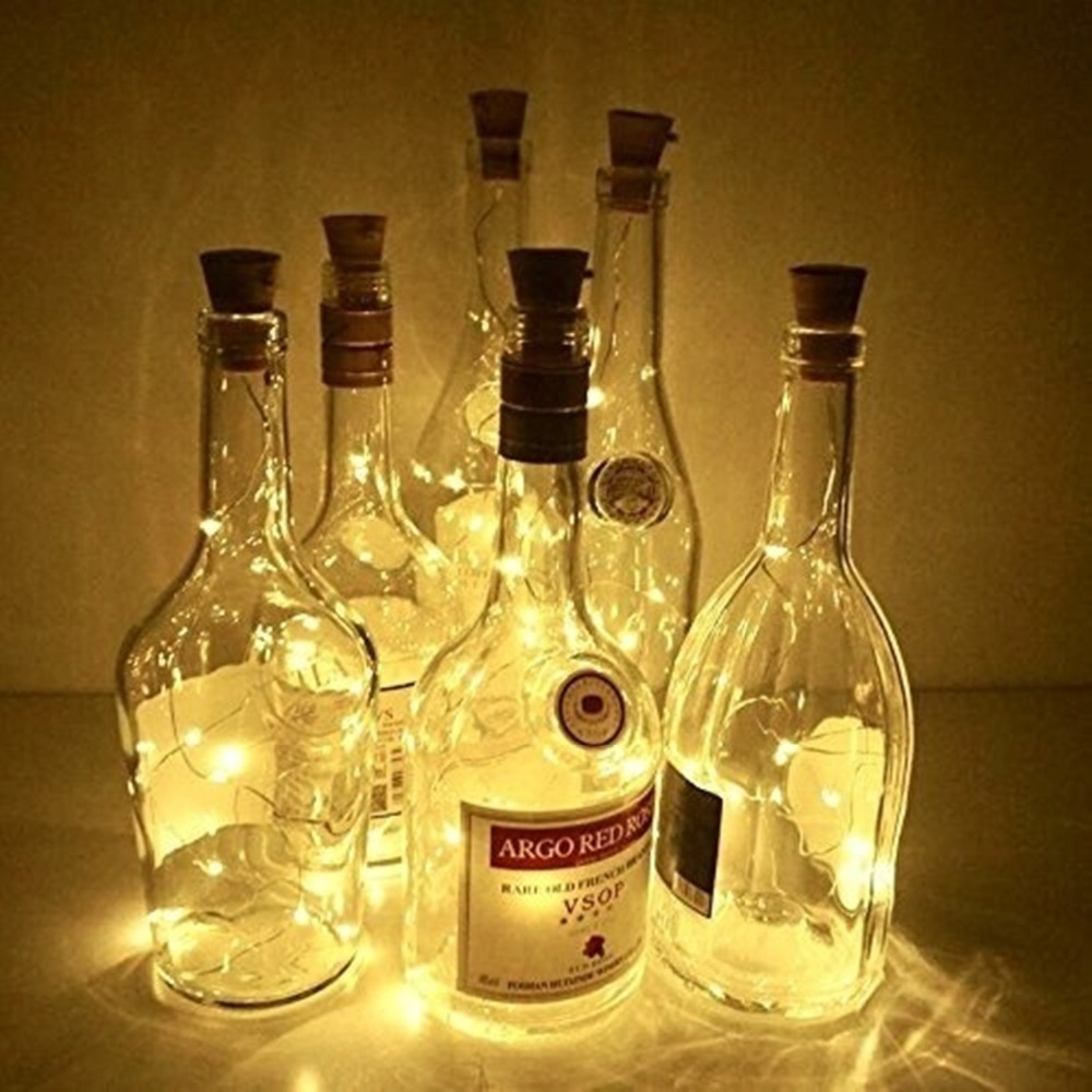 lowest price 2M 20LED Solar Powered Wine Bottle Cork Shaped LED Copper Wire String Outdoor Light Garland Lights Festival Outdoor Fairy Light