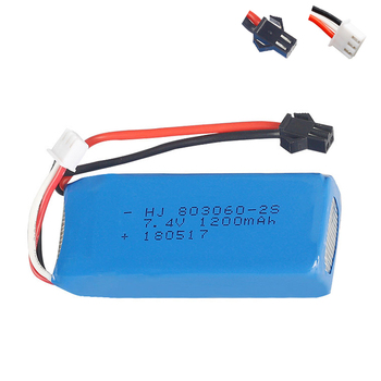 Battery for H26 H26C H26W H26D H26HW RC Quadcopter Drone 7.4V 1200mAh 2S 803060 30C SM Plug Lipo Battery for H26-012 toys parts image