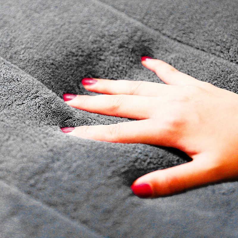 1 PC Rumah Karang Fleece Kamar Mandi Mat Non-slip Busa Memori Karpet Lembut Karpet Lantai Super Penyerap Mudah Dicuci 40X60 Cm