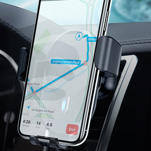 Image 4 - Hoco carregador sem fio para carro 10w, carregador wireless para iphone 11 x xs max, ventilação para suporte de telefone do carro suporte de montagem para samsung xiaomi