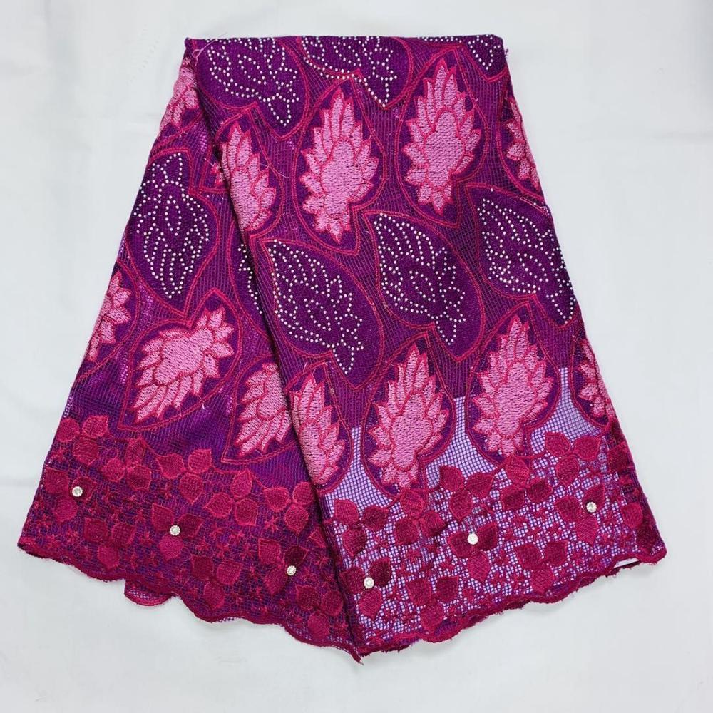 African Cotton Net Lace Fabric For Wedding Dress 2020 High Quality Cotton African Lace Fabrics 5 Yards Nigerian Ankara Ghana