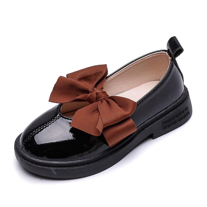 Toddler Children Girls Solid Bling Wave Formal Princess Student Single Shoes HOT