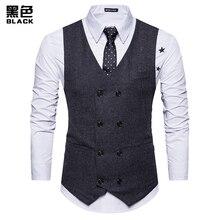 Wool tweed suit men's vest Victorian steampunk vest men and leather gentleman best men slim wedding vest men