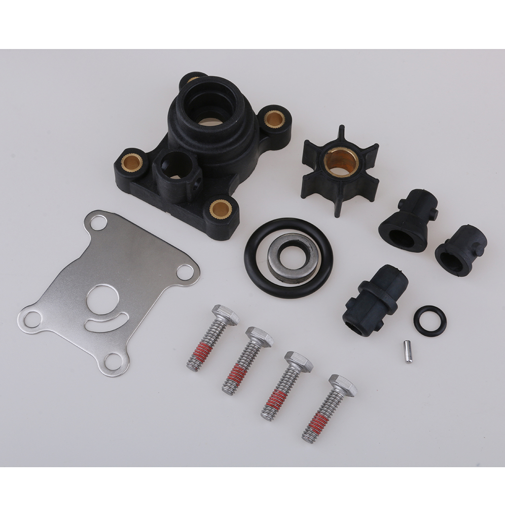 Impeller Water Pump Repair Kit For Johnson Evinrude OMC Outboard 9.9 15hp Boat Motors, 394711 (Heavy Duty)