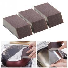 1/3pcs Kitchen Mini Cleaning Brush Dirt Clean Alumina Emery Eco-friendly Sponge Pot Window Glass Tools
