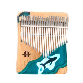 Hluru 21 klawiszy Kalimba kciuk fortepian drewno bukowe kciuk palec fortepian Instrument muzyczny niebieski Ocean wieloryb dla dzieci dorośli tanie i dobre opinie CN (pochodzenie) Beginner Other