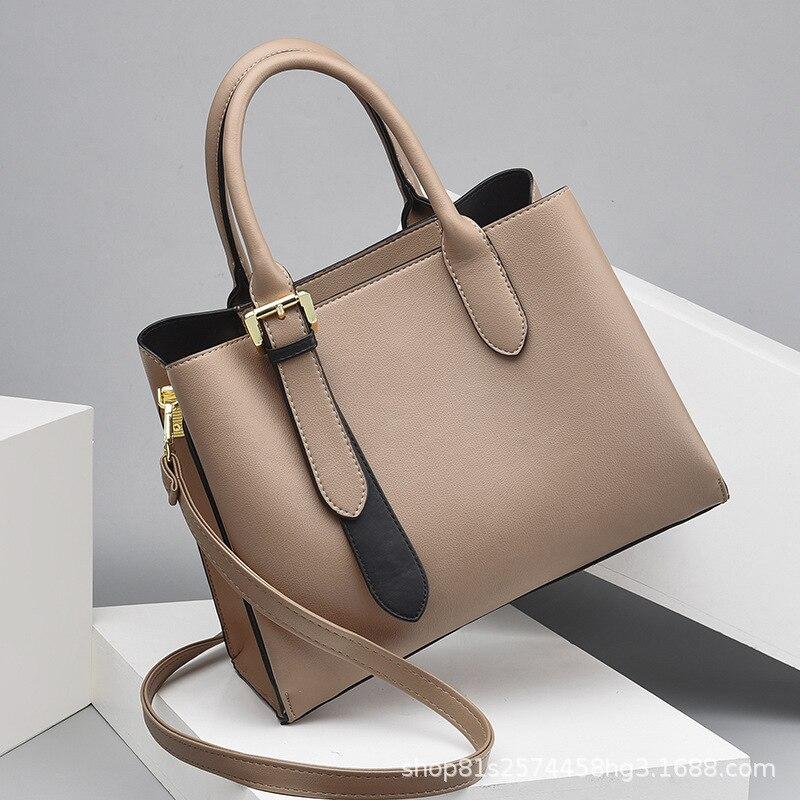 Soft Leather All-match Women's Bag 2020 Mother Bag Middle-aged Women's Handbag Shoulder Messenger Bag Big Bag