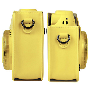 Image 5 - Kaliteli PU deri kamera çantası Fujifilm Instax Mini 9 Mini 8 anında Film kamera, 5 renkler koruyucu çanta omuz askısı ile