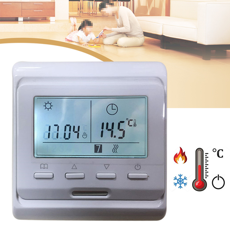 1Pc LCD Display Digital Underfloor Heating Thermostat AC 230V 50Hz Digital Floor Thermostat Temperature Controller