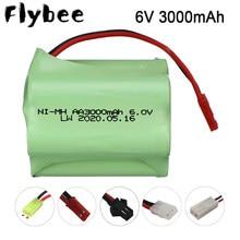 Bateria recarregável aa 3000mah da bateria de 6v de nimh para os tanques dos robôs dos carros de rc barcos da arma 6v bateria de nimh aa 2400mah 6v