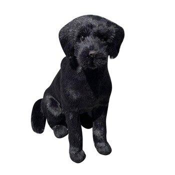 1 Uds. Perro de juguete simulado mascotas hecho a mano animales de peluche muñecos de peluche perro de peluche niños simulación marrón niños encantadores