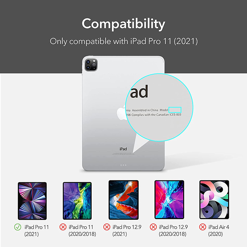 Transparent Clear Soft TPU Back Case For iPad 11 2021 Shockproof Ultra Slim Case Cover For