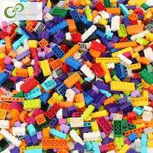 1100 шт./500 шт. строительные блоки город DIY блоки конструктора объемные модели Фигурки Развивающие детские игрушки Совместимые все бренды GYH