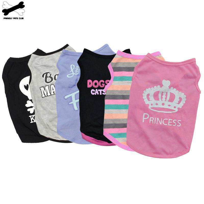 Pet Cat Costume Small Dog Cat Clothes Cute Puppy Cat Kitten T-shirt Summer Vest Shirt Apparel For Spring And Summer 23