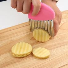 Нож для картошки фри овощ-Картофель чипов для очистки фруктов и овощей волнообразный Ножи фрукты уничтожитель овощей кухонный инвентарь для тонкой нарезки