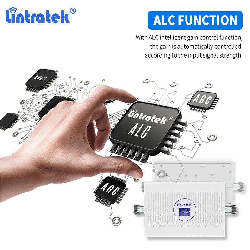 Lintratek 70dB dwuzakresowy wzmacniacz sygnału DCS LTE 1800 4g GSM 900 WCDMA 2100 CDMA 850 wzmacniacz komórkowy szt. 1900 cały zestaw